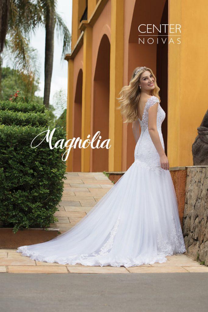 A Linda Noiva Contagem – Coleção Magnólia 2018 – MG003 costas