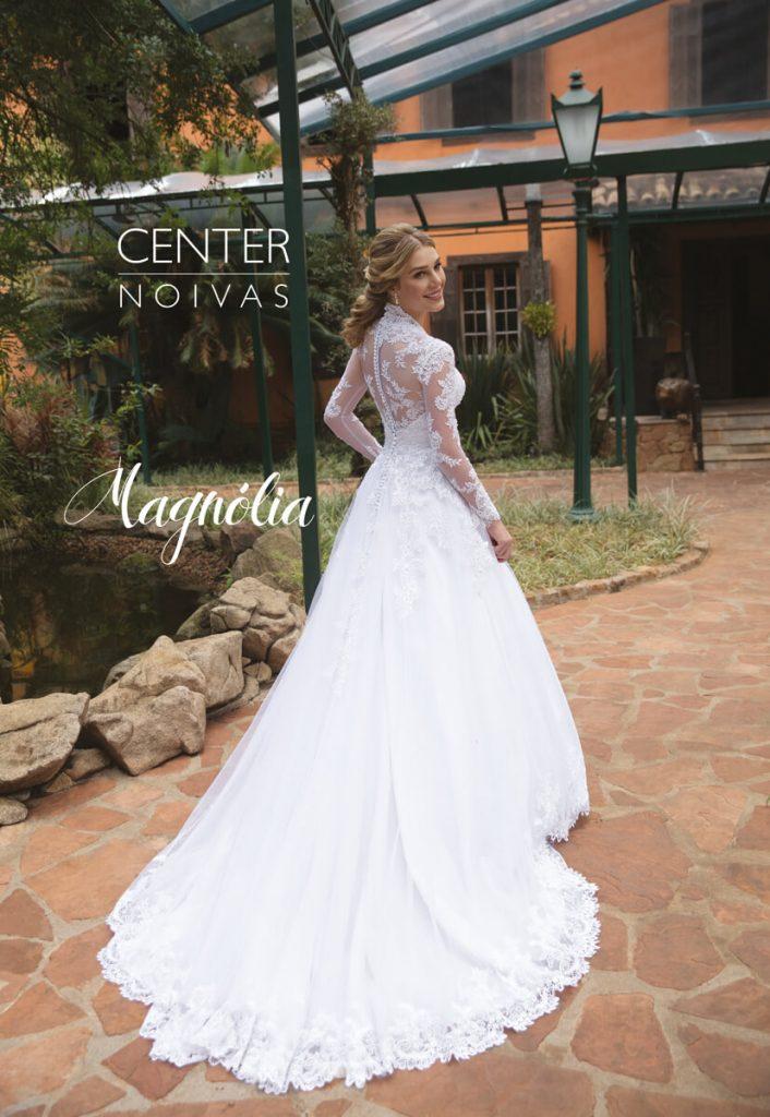 A Linda Noiva Contagem – Coleção Magnólia 2018 – MG012 COSTAS
