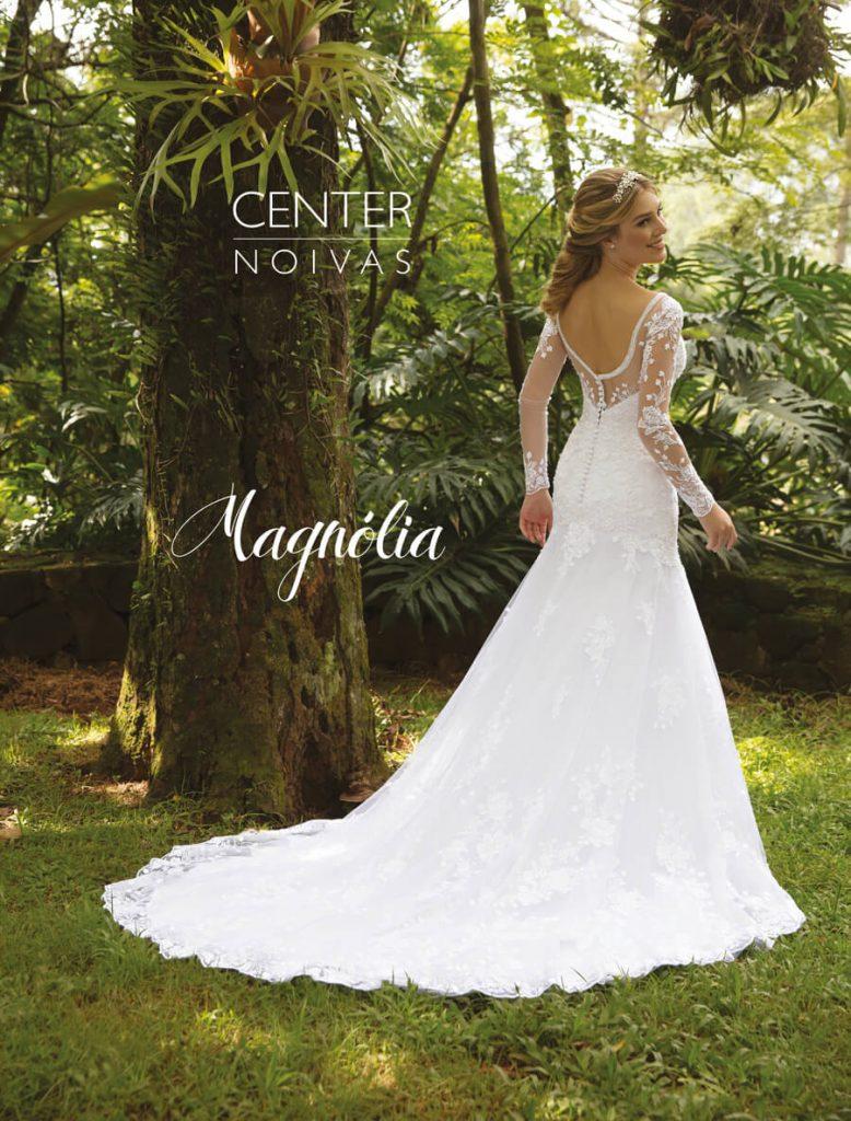 A Linda Noiva Contagem – Coleção Magnólia 2018 – MG013 COSTAS