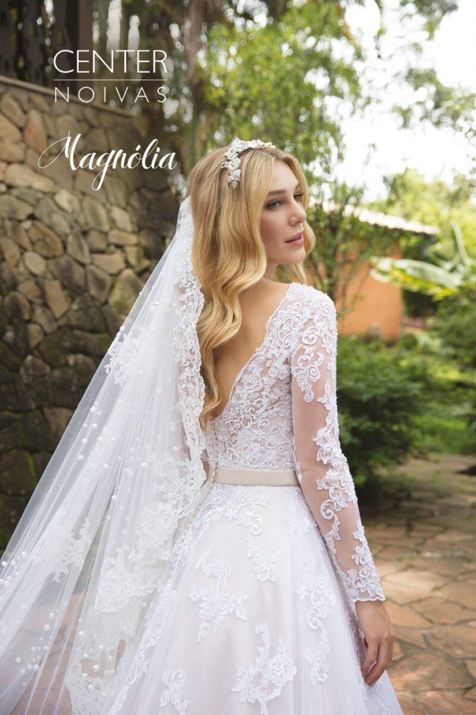 A Linda Noiva Contagem – Coleção Magnólia 2018 – MG016 COSTAS