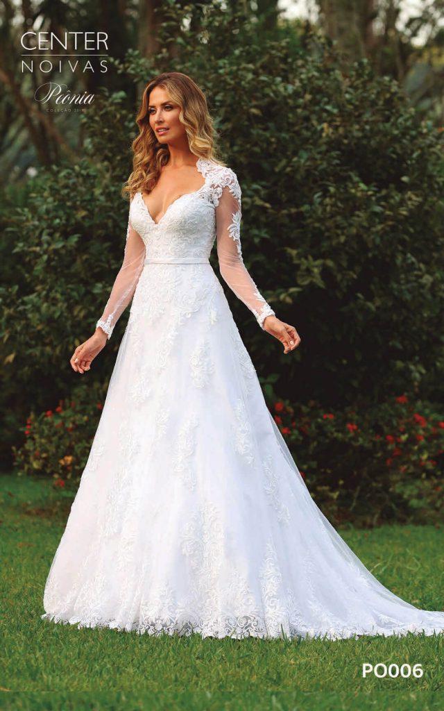 A Linda Noiva Coleção Peônia 2019 – Vestido de Noiva PO006 B