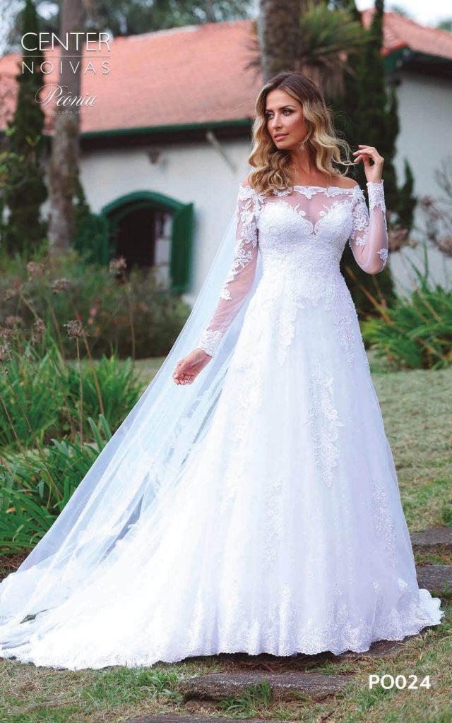 A Linda Noiva Coleção Peônia 2019 – Vestido de Noiva PO024 B