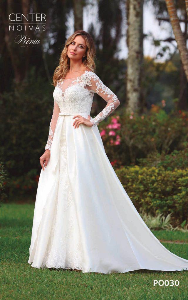 A Linda Noiva Coleção Peônia 2019 – Vestido de Noiva PO030 B