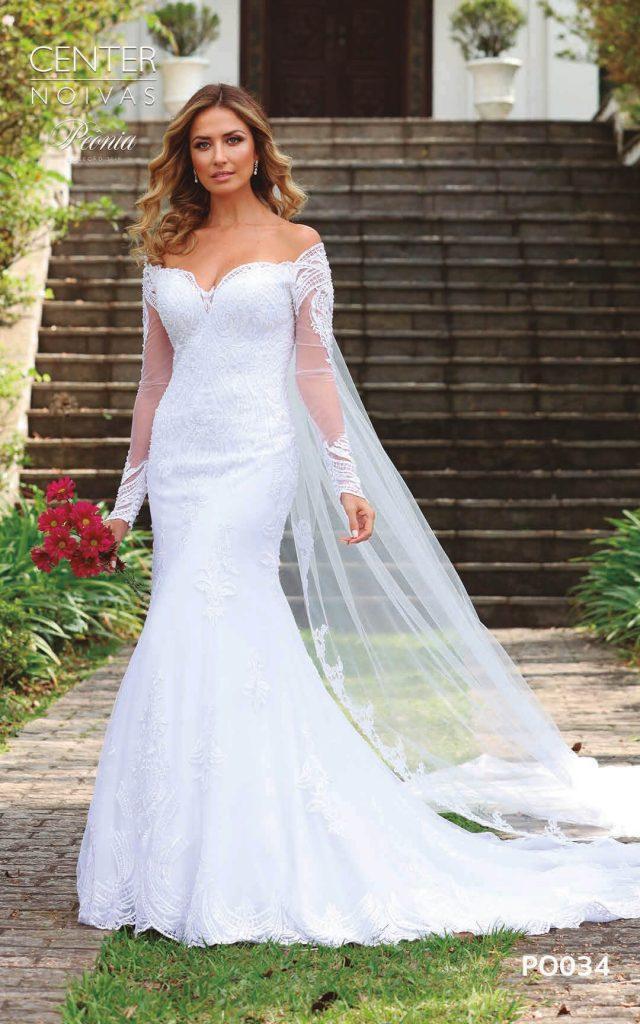 A Linda Noiva Coleção Peônia 2019 – Vestido de Noiva PO034 B